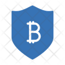 Bitcoin Shield Bitcoin Crypto Icon