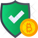 Bitcoin Shield Secure Bitcoin Bitcoin Security Icon