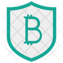 Bit Coin Shield Protection Icon