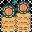 Bitcoin Shield Security Protection Icon