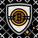 Bitcoin Shield Bitcoin Security Crypto Security Icon