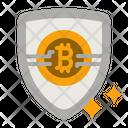 Bitcoin Shield Icon