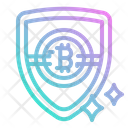 Shield Protection Cryptocurrency Token Currency Icon