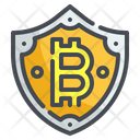Shield Cryptocurrency Digital Currency Security Protect Bitcoin Icon