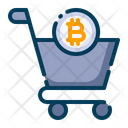 Bitcoin Shopping Icon