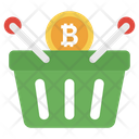 Bitcoin Shopping Investment Bitcoin Buying Icon