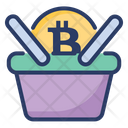 Bitcoin Shopping Cart Currency Icon