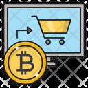 Bitcoin Shopping Online Icon