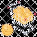 Cryptocurrency Cart Bitcoin Cart Bitcoin Shopping Icon