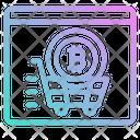 Coin Bitcoin Shopping Online Website Icon