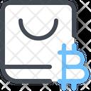 Bitcoin Shopping Bitcoin Bag Bitcoin Buy Icon