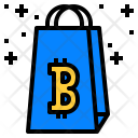Bitcoin Shopping Icon