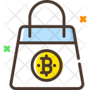 Bitcoin Shopping Bag Icon