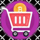 Bitcoin Trolley Bitcoin Shopping Cart Bitcoin Buying Icon