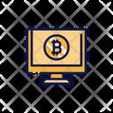 Bitcoin Site Online Report Graph Icon