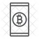Bitcoin Smartphone Icon