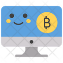 Bitcoin Smiley Online Bitcoin Emoji Icon