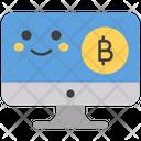 Bitcoin Smiley Icon