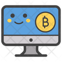 Bitcoin Smiley On Bitcoin Emoji Icon