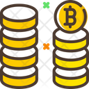 Bitcoin Stack Icon