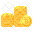Bitcoin Stack Btc Stack Coins Stack Icon