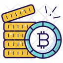 Bitcoin Stack Coins Stack Cryptocurrency Stack Icon