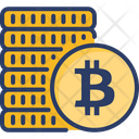 Bitcoin Stack Abstract Icon
