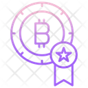 Bitcoin Star Badge Icon