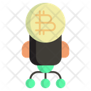 Bitcoin Startup Startup Launch Icon