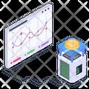 Bitcoin Infographics Blockchain Analytics Bitcoin Statistics Icon