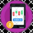Bitcoin Analytics Candlestick Chart Bitcoin Stock Chart Icon