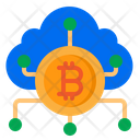 Bitcoin Cloud Money Icon