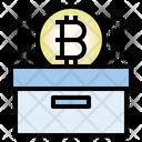 Bitcoin Storage Box Cyptocurrency Icon
