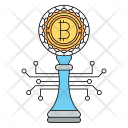 Bitcoin Strategy Cryptocurrency Icon