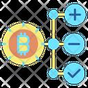 Sucture Bitcoin Bitcoin Structure Add Icon
