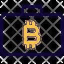 Bitcoin Suitcase Icon