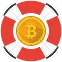 Bitcoin Support Money Icon