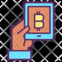Bitcoin Tablet Icon