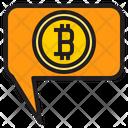 Bitcoin Talk Talk Bank Icon