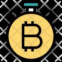 Bitcoin Time Bitcoin Timepiece Icon