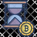 Bitcoin Time Stopwatch Crypto Icon