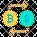 Bitcoin to Dollar Icon