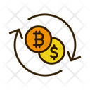 Bitcoin To Dollar Currency Exchange Exchage Icon