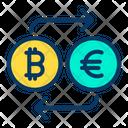 Bitcoin to Euro Icon