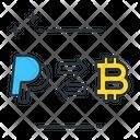 Bitcoin To Paypal Bitcoin Paypal Icon