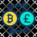 Bitcoin to Pound Icon