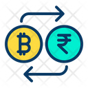 Bitcoin to Rupees Icon