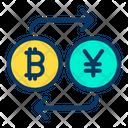 Bitcoin to Yen Icon