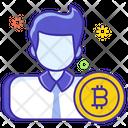 Bitcoin Trader Broker Businessman Icon