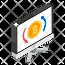 Bitcoin Transaction Money Transfer Bitcoin Conversion Icon